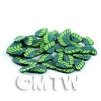 50 Dual Tone Green Leaf Cane Slices (NS56)