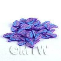 1/12th scale 50 Blue and Purple Leaf Cane Slices (NS57)