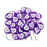 1/12th scale 50 Purple and White Halloween Cane Slices (NS40)