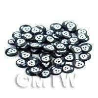 1/12th scale 50 Black and White Halloween Cane Slices (NS41)