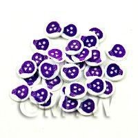 1/12th scale 50 Purple and White Skull Cane Slices (NS42)