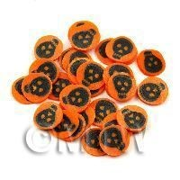 1/12th scale 50 Orange and Black Skull Cane Slices (NS43)