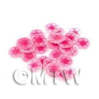 1/12th scale 50 Pink Flower Nail Art  Cane Slices (NS45)