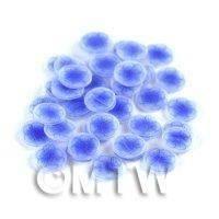 50 Blue Flower Nail Art Cane Slices (NS46)