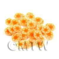 1/12th scale 50 Orange Flower Nail Art  Cane Slices (NS47)