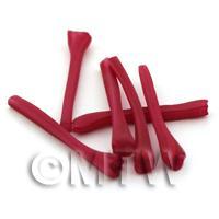 Dolls House Miniature Handmade Ripe Rhubarb Stick