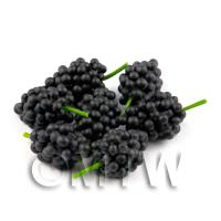 Dolls House Miniature Bunch of Black Seedless Grapes