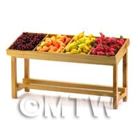 Dolls House Miniature Fully Stocked Exotic Fruit Stall