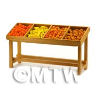 Dolls House Miniature - Dolls House Miniature Fully Stocked Small Fruit Stall