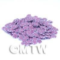 1/12th scale 50 Purple Flower Nail Art  Cane Slices (NS1)