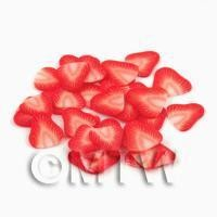 1/12th scale 50 Strawberry Nail Art Cane Slices (NS2)