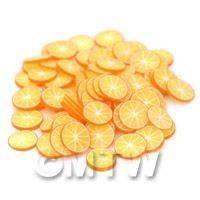 50 Handmade OrangeNail Art  Cane Slices (NS6)