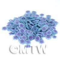 1/12th scale 50 Blue Flower Nail Art  Cane Slices (NS8)