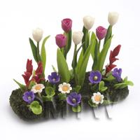 Dolls House Miniature Large DIY Flower Bed (DIY2)
