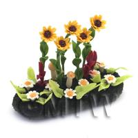 Dolls House Miniature Large DIY Flower Bed (DIY4)