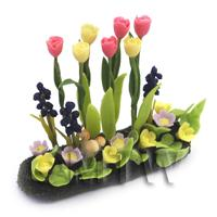 Dolls House Miniature Large DIY Flower Bed (DIY5)