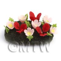 Dolls House Miniature Small DIY Flower Bed (DIY20)
