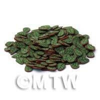 50 Green and Copper Leaf Cane Slices (NS22)