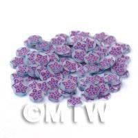 50 Purple and Violet Flowers Nail Art Cane Slices (NS28)