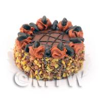 Dolls House Miniature Luxury Chocolate and Toffee Gateaux