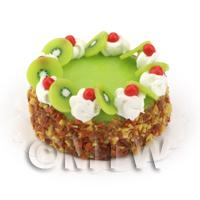 Dolls House Miniature Kiwi And Cherry Cake