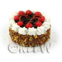 Dolls House Miniature Chocolate Cherry Cake
