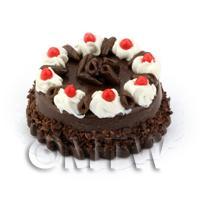 Dolls House Miniature Chocolate Fudge Gateaux