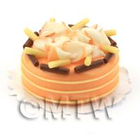 Dolls House Miniature Chocolate Orange Gateaux