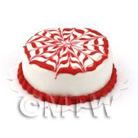 Dolls House Raspberry Marble Cake