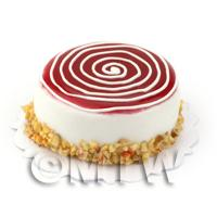 Dolls House Miniature Raspberry Cheesecake