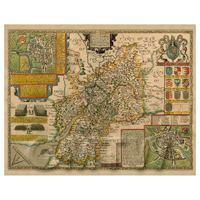 Dolls House Miniature John Speed Aged Glocestershire Map