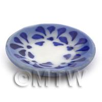 Dolls House Miniature 28mm Blue Spotted Plate