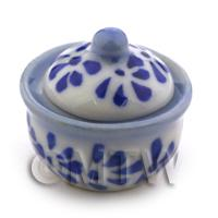 Dolls House Miniature Blue Spotted Cooking Pot