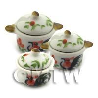 Dolls House Miniature Cockerel Cooking Pots