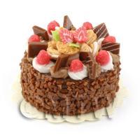Dolls House Miniature Strawberry Fudge Cake