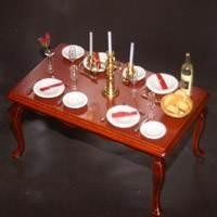 Dolls House Miniature Table Layout