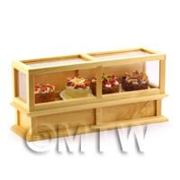 Dolls House Miniature Cake Display Cabinet