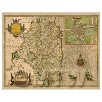 Dolls House Miniature John Speed Aged Leinster Map