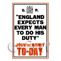 England Expects Every Man - Miniature WWI Poster