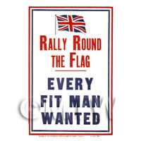 Rally Around The Flag - Miniature WWI Poster