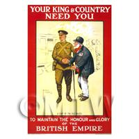 Glory Of The British Empire - Miniature WWI Poster