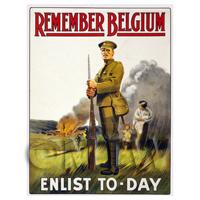 Remember Belgium! - Miniature WWI Poster