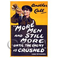 More Men And Still More - Miniature WWI Poster
