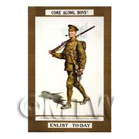 Come Along Boy! - Miniature WWI Poster