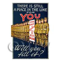 There Is Still A Place For You - Miniature WWI Poster