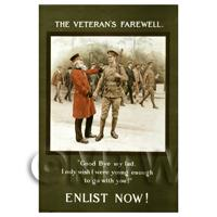 The Veterans Farewell - Colour - Miniature WWI Poster
