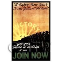 Victory! Join Now - Miniature WWI Poster