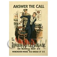 Answer The Call - Miniature WWI Poster