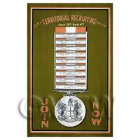 Territorial Army Rally - Miniature WWI Poster