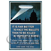 Help To Stop An Air Raid - Miniature WWI Poster
